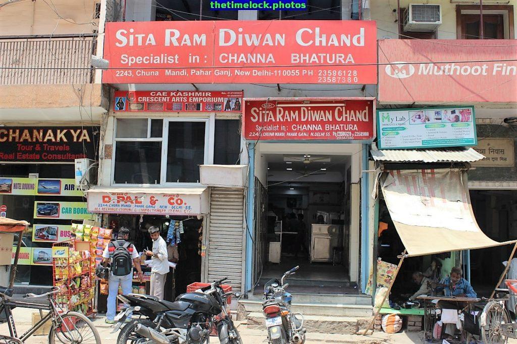 Entrance to Sita Ram Diwan Chand Restaurant